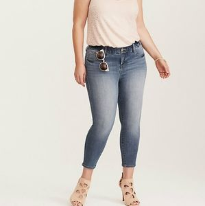 Torrid Skinny Cropped Ankle Jeans High Waisted